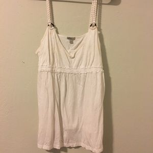 Old Navy Sleeveless Tank Top White Shirt Size L